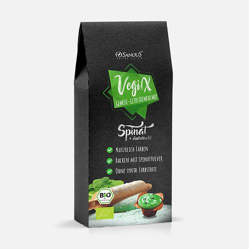 500g VegiX Spinat Getreidemehl Mix für natürliche Farbe & Geschmack