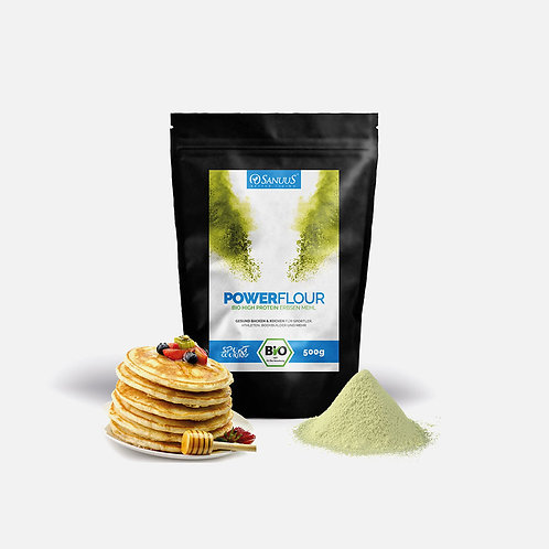 Power Flour - 500g BIO Erbsen Getreidemehl Mix mit pflanzlichen Protein