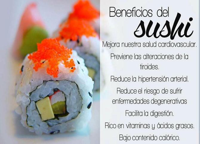 BENEFICIOS DEL SUSHI PARA LA SALUD