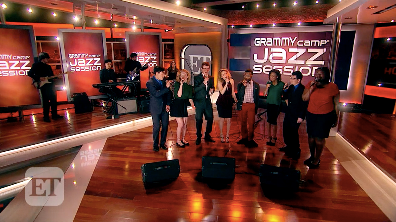GRAMMY camp Jazz Session Choir  & Combo on Entertainment Tonight