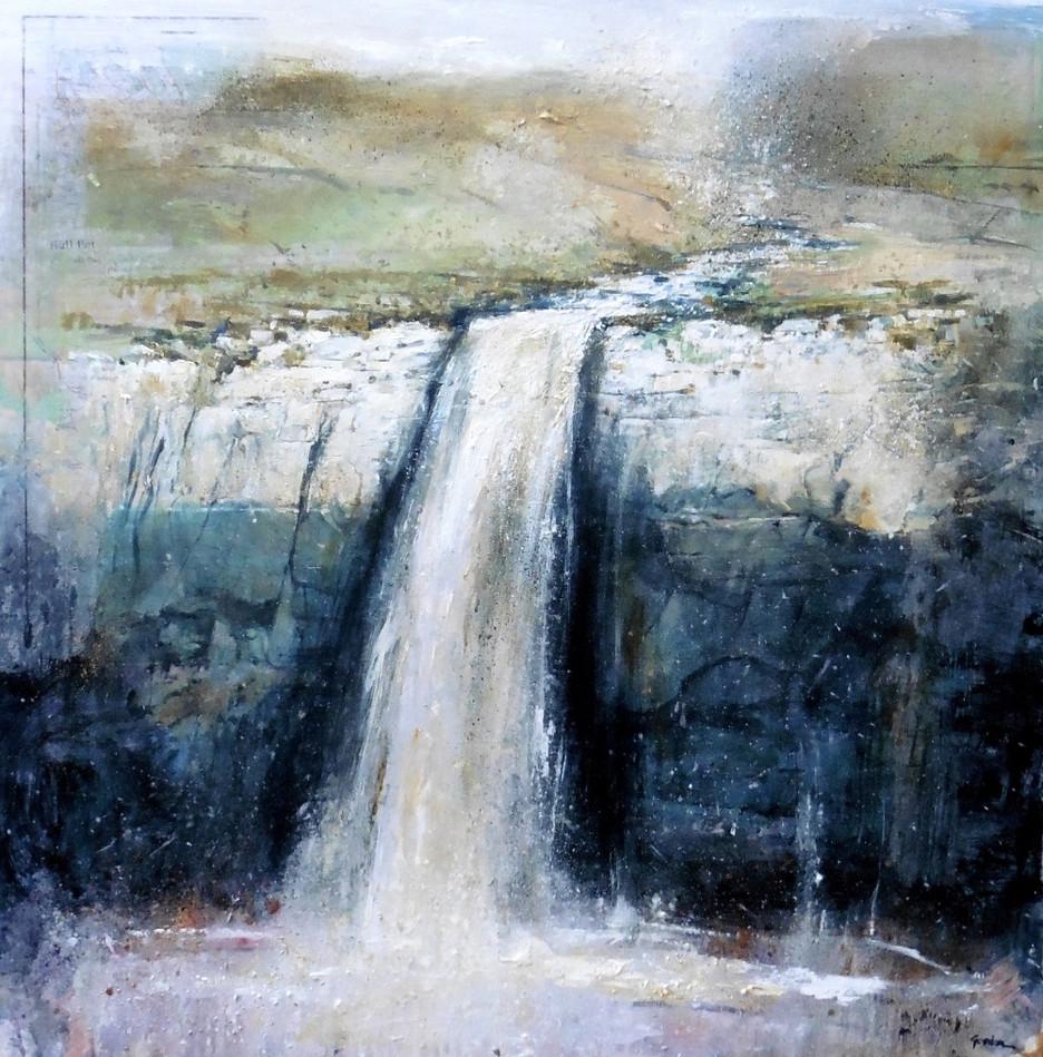 Hull Pot - an occasional waterfall small