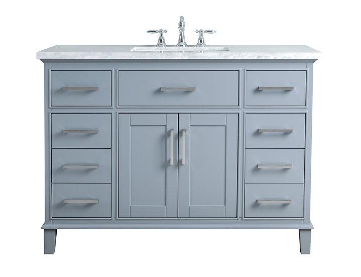 """Leigh 48"""" Grey Single Sink Vanity"""