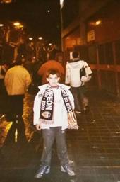 Foto: Javier en un partido del Valencia en La Romareda (Zaragoza) en 2003