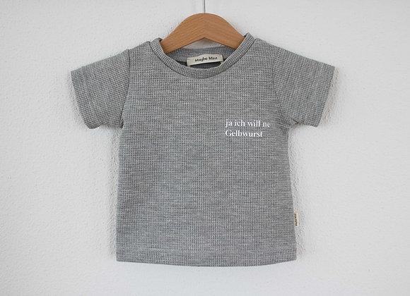 """T-Shirt """"Gelbwurst"""" (Grau)"""