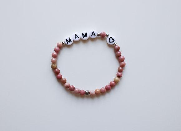 "Mama-Armband ""MAMA"" (Dunkles Rosa)"