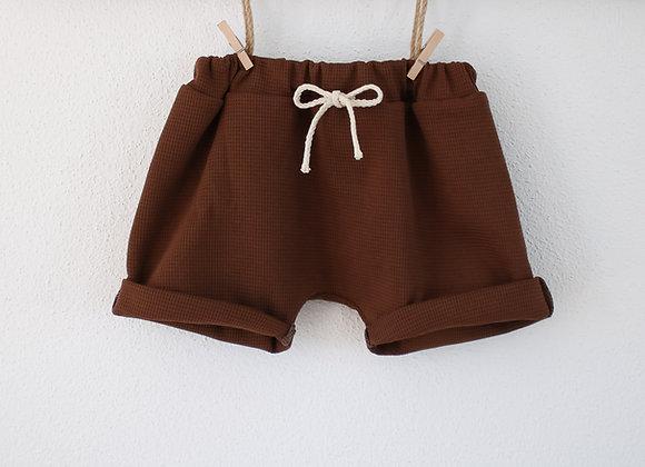 """Shorts """"Waffel"""" (Kakaobraun)"""