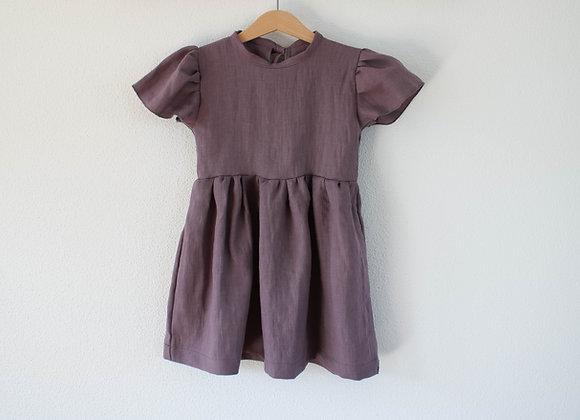 """Kleid """"Linen"""" (Mauve)"""