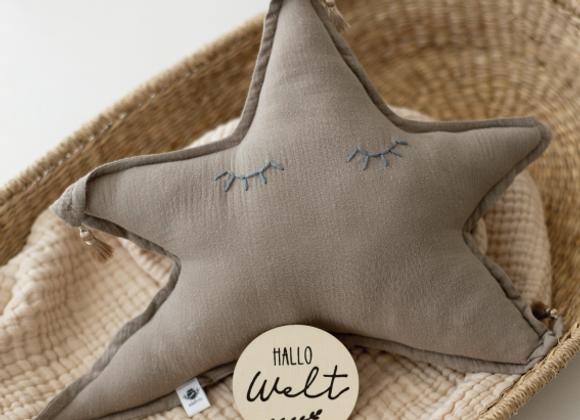 """Kuschelkissen """"Star"""" (Sand)"""