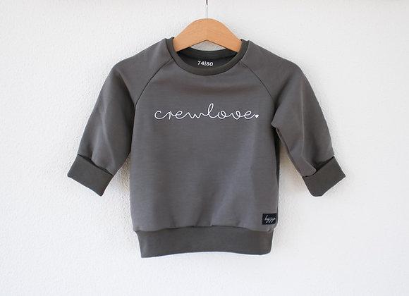 "Sweater ""crewlove"" (Taupe Grau/Beige)"