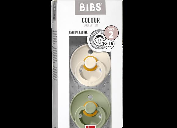"""BIBS Schnuller """"Colour"""" (Sage & Ivory)"""
