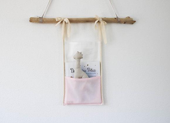 Babybett-Utensilo (Weiß/Rosa)