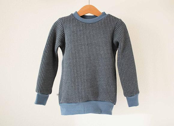 "Oversize Pulli ""Knit"" (Vintage Blue)"