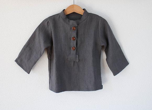 """Hemd """"Linen"""" (Steingrau)"""