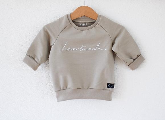 "Sweater ""heartmade"" (Taupe Grau/Beige)"