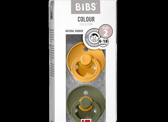 "BIBS Schnuller ""Colour"" (Honey Bee & Olive)"