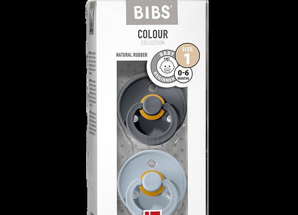 "BIBS Schnuller ""Colour"" (Baby Blue & Iron)"