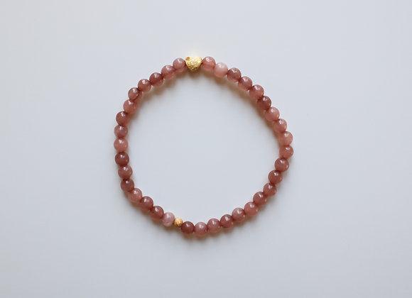 """Mama-Armband """"Goldenes Herz"""" (Rosa)"""