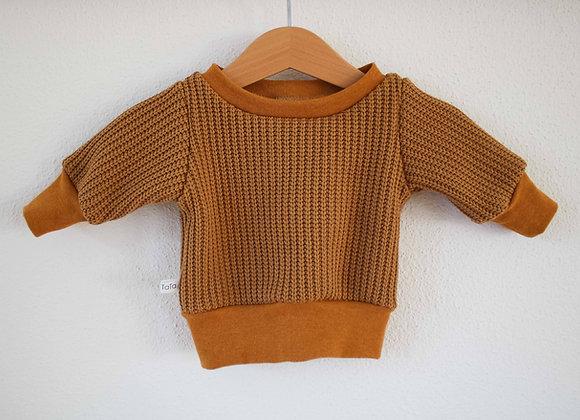 "Oversize Pulli ""Knit"" (Karamell)"