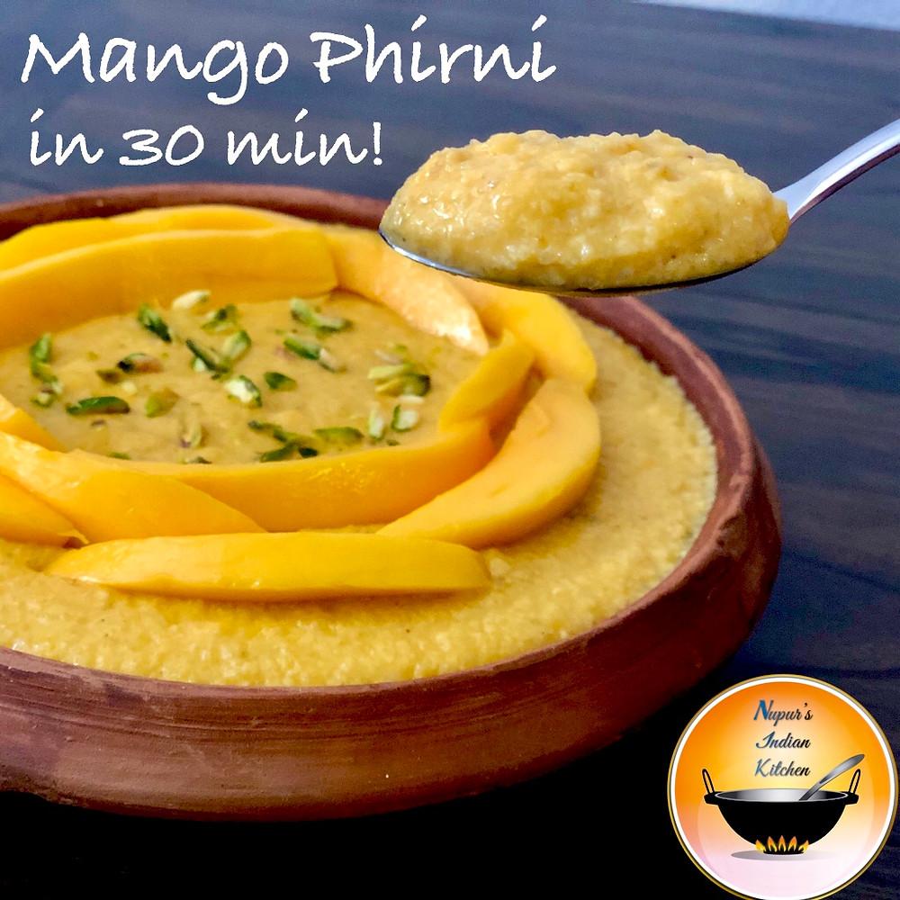 Easy creamy Mango Phirni recipe/Mango Phirni/Mango pudding/Mango desserts/How to make mango phirni