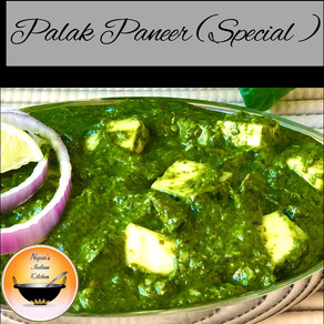 Palak Paneer Recipe/Cottage Cheese in Spinach Gravy/Saag Paneer/Indian Spinach and Paneer