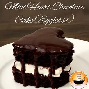 Mini Heart Chocolate Cake/Valentines Day Cake ideas/Valentines heart cake/Eggless Chocolate cake