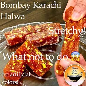 How to make Perfect Stretchy Halwai Style Bombay Karachi Halwa at home-Watermelon Halwa