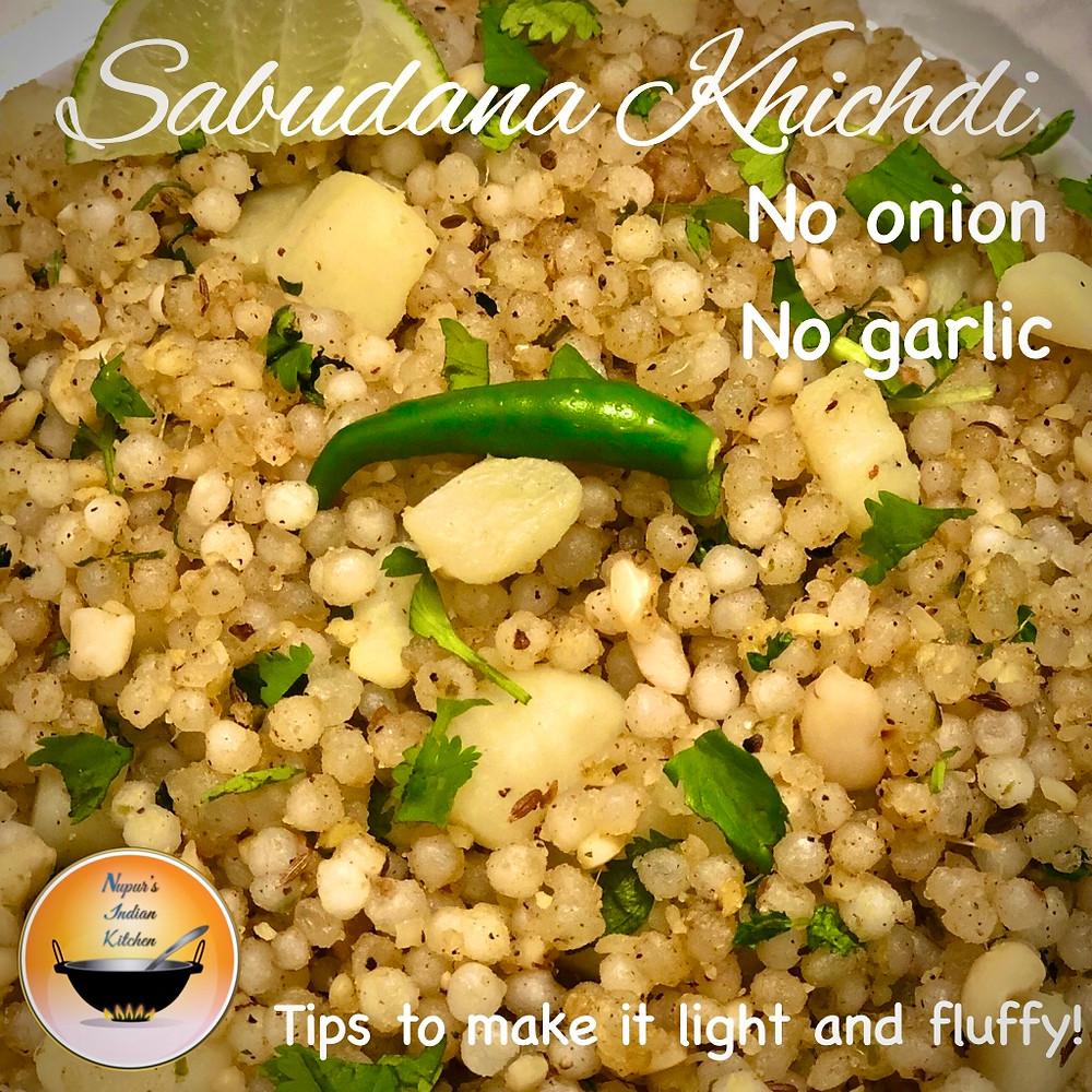 Sabudana Khichdi recipe for Navratri/Sabudana Khichdi Vrat recipe/Tips for fluffy nonsticky sabudana