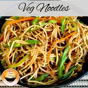 How to make indian veg noodles/Veg noodles recipe/Street style veg noodles/Indo-chinese veg noodles