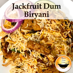 Raw Jackfruit Dum Biryani/Jackfruit Biryani Recipe/How to make jackfruit biryani/Kathal ki biryani