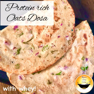 Oats Dosa/Oats Dosa recipe/Healthy Dosa recipe/Oats dosa with whey/Protein rich Oats dosa recipe