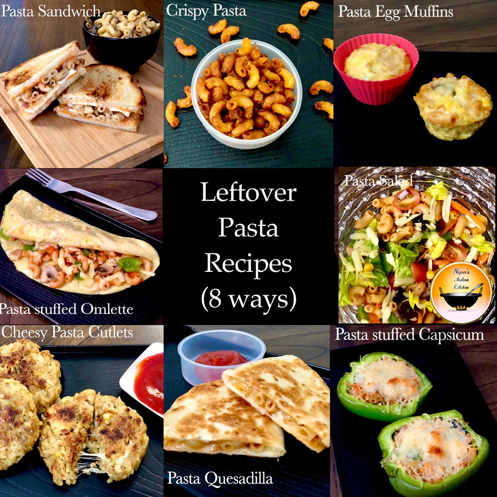 Ways to use leftover pasta/leftover pasta recipes/kitchen leftovers/what to do with leftover pasta