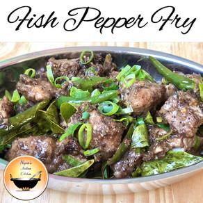 Fish pepper fry/Pepper fish fry/Fish pepper recipe/How to make pepper fish fry/Meen varuval/Fish fry