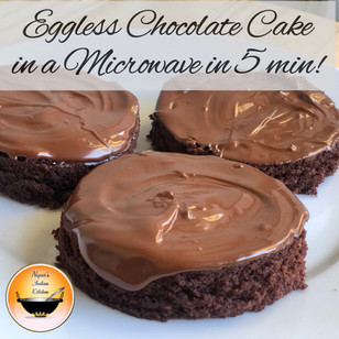 How to make eggless chocolate cake in the microwave/Instant chocolate cake in microwave without egg