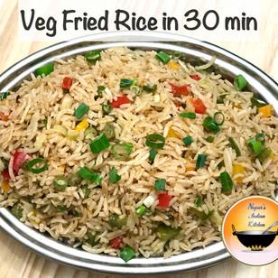 Veg Fried Rice/Street-Style Veg Fried Rice/Restaurant-Style Veg Fried Rice/Indo-Chinese Fried Rice