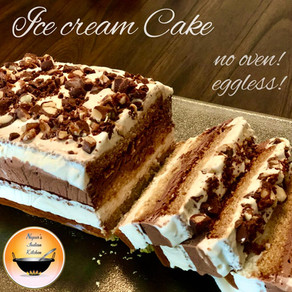 How to make ice cream cake/Eggless ice cream cake recipe/Homemade ice cream pound cake recipe