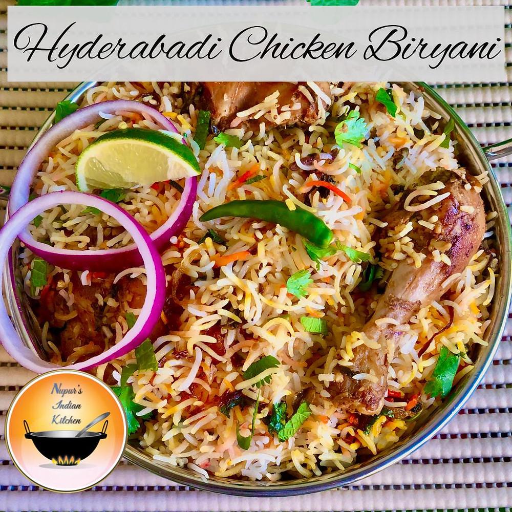 Hyderabadi Chicken Biryani/Chicken Biryani/Hyderabadi Chicken Dum Biryani/Chicken Dum Biryani