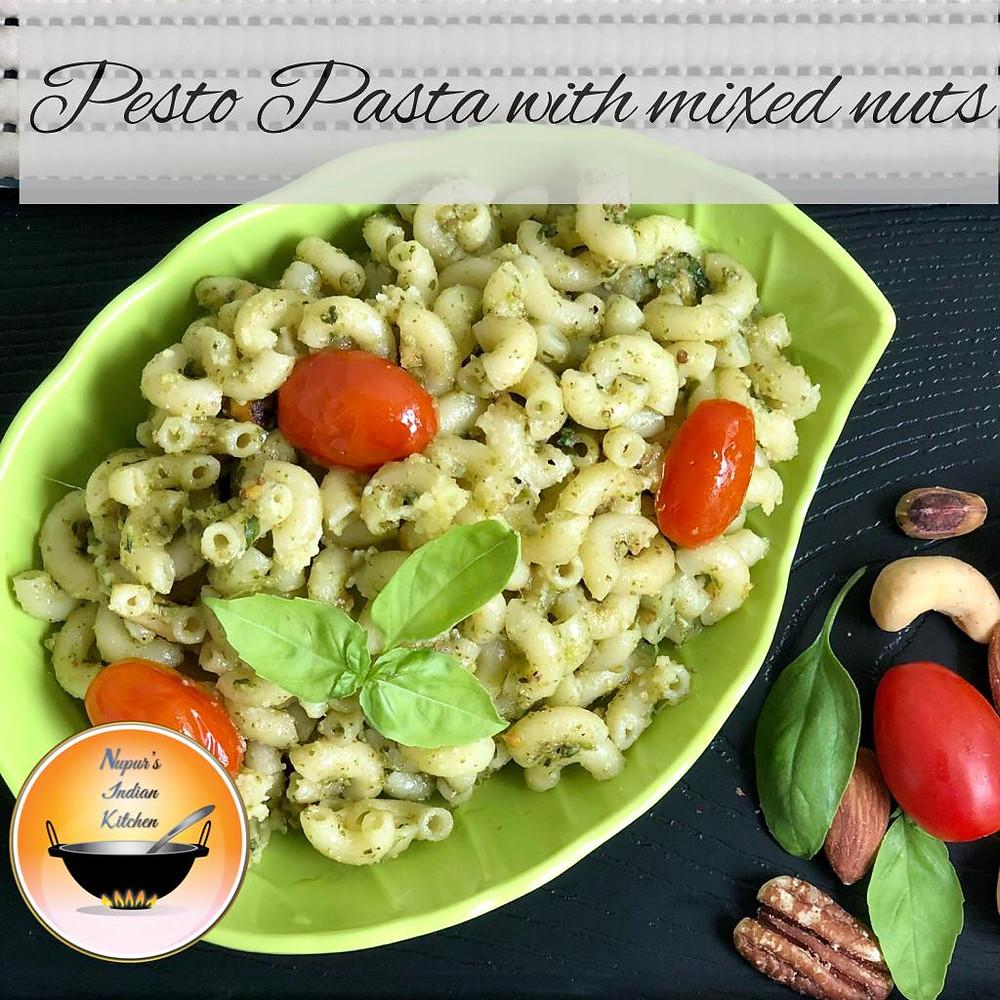 Pesto Pasta/Basil Pesto Pasta with cherry tomatoes/Pesto Pasta with mixed nuts/Basil Pesto Macaroni