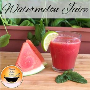 Watermelon juice recipe/Fresh watermelon juice/Refreshing homemade summer drink/Watermelon lemonade-