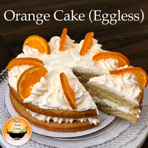 Orange cake/Eggless orange cake recipe/How to make eggless orange cake/Orange cake recipe