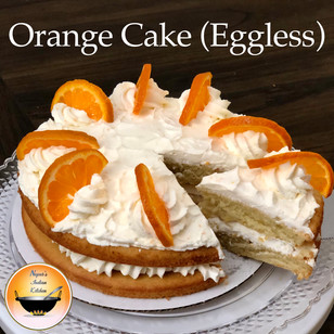 Orange cake/Eggless orange cake recipe/How to make eggless orange cake/Orange cake recipe
