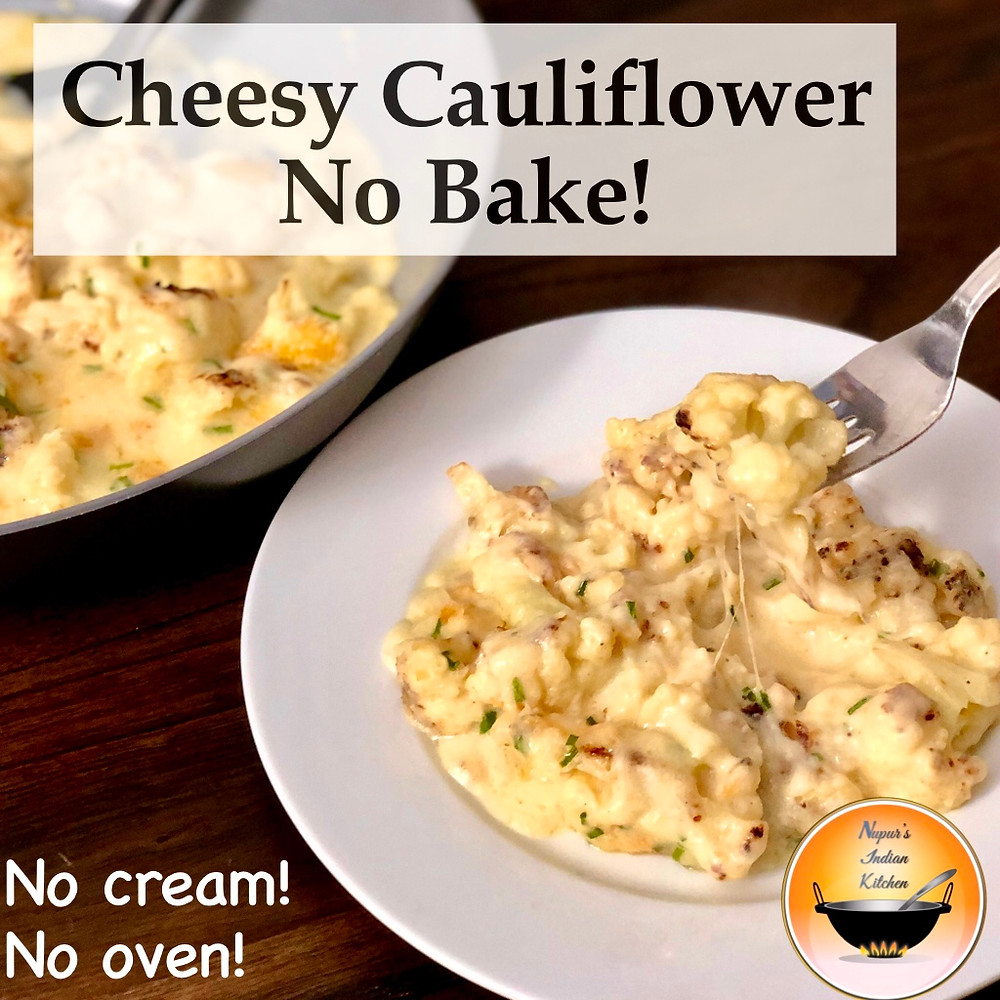 Cheesy Cauliflower/Cheesy Cauliflower Recipe/Cauliflower in cheese sauce/Cauliflower Cheese Recipe
