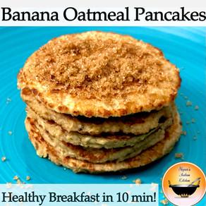How to make Banana Oatmeal Pancake/Healthy pancake recipe/Gluten free pancake/Oatmeal pancake recipe