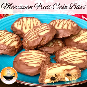 Marzipan Fruit Cake Bites/Unique Christmas desserts/Christmas Delights/Cookies with almond paste