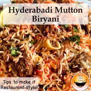 How to make Restaurant Style Hyderabadi Mutton Biryani at home/Hyderabadi Mutton Dum Biryani Recipe
