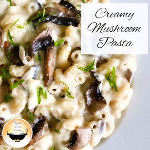 Creamy mushroom pasta/White sauce pasta recipe/Mushroom pasta in white sauce/Indian style pasta