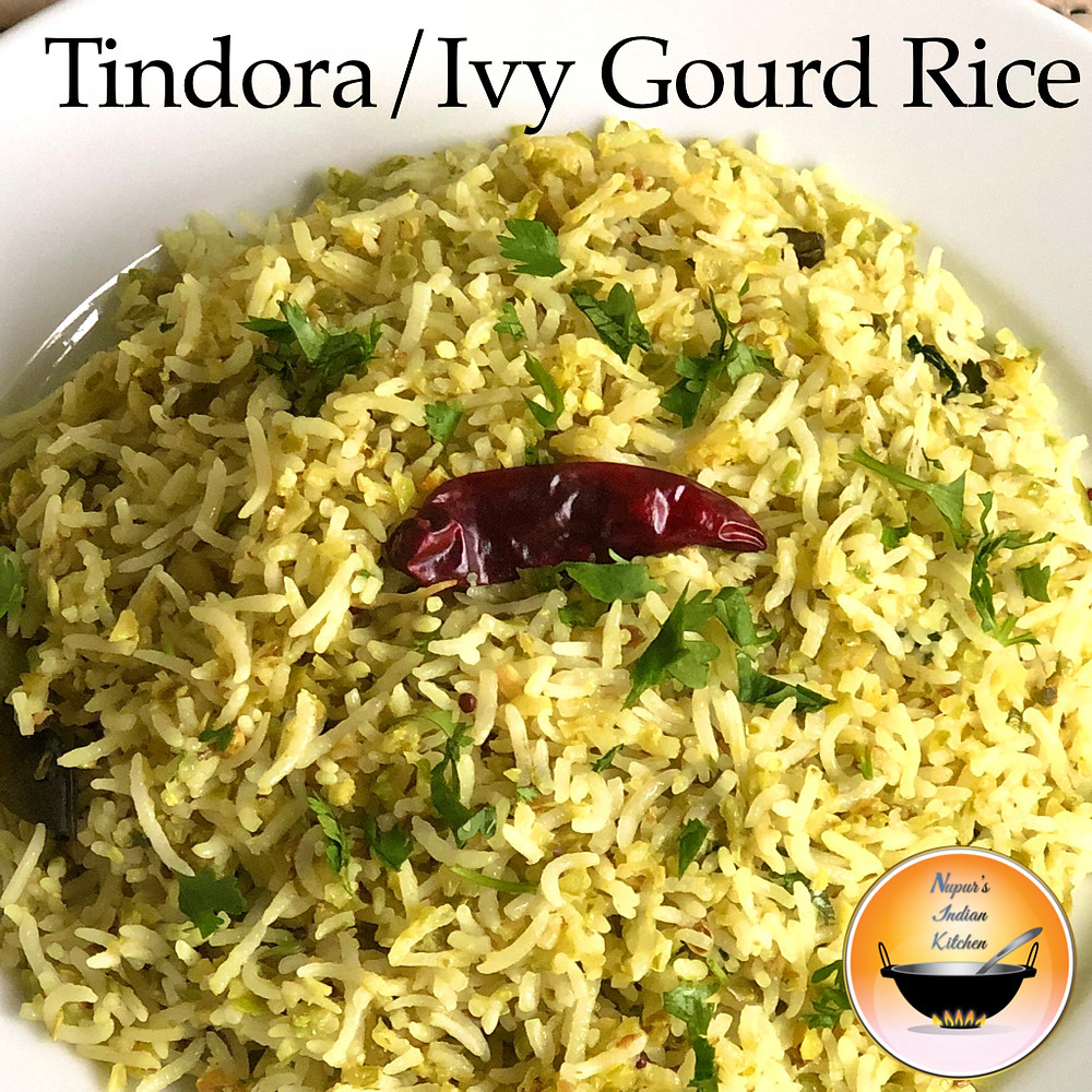 Tindora Rice Recipe/Ivy Gourd Rice/Kundru Rice Recipe/Tendli Bhaat/Tondli Bhaat/Dondakaya Rice