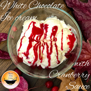 Ice cream with cranberry sauce/Holiday cranberry desserts/Easy cranberry desserts for Thanksgiving