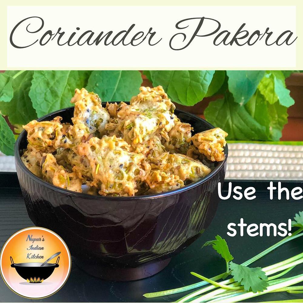 Coriander Pakora Recipe/Coriander Pakoda Recipe/Cilantro Pakora/Cilantro Pakora/How to make Pakora
