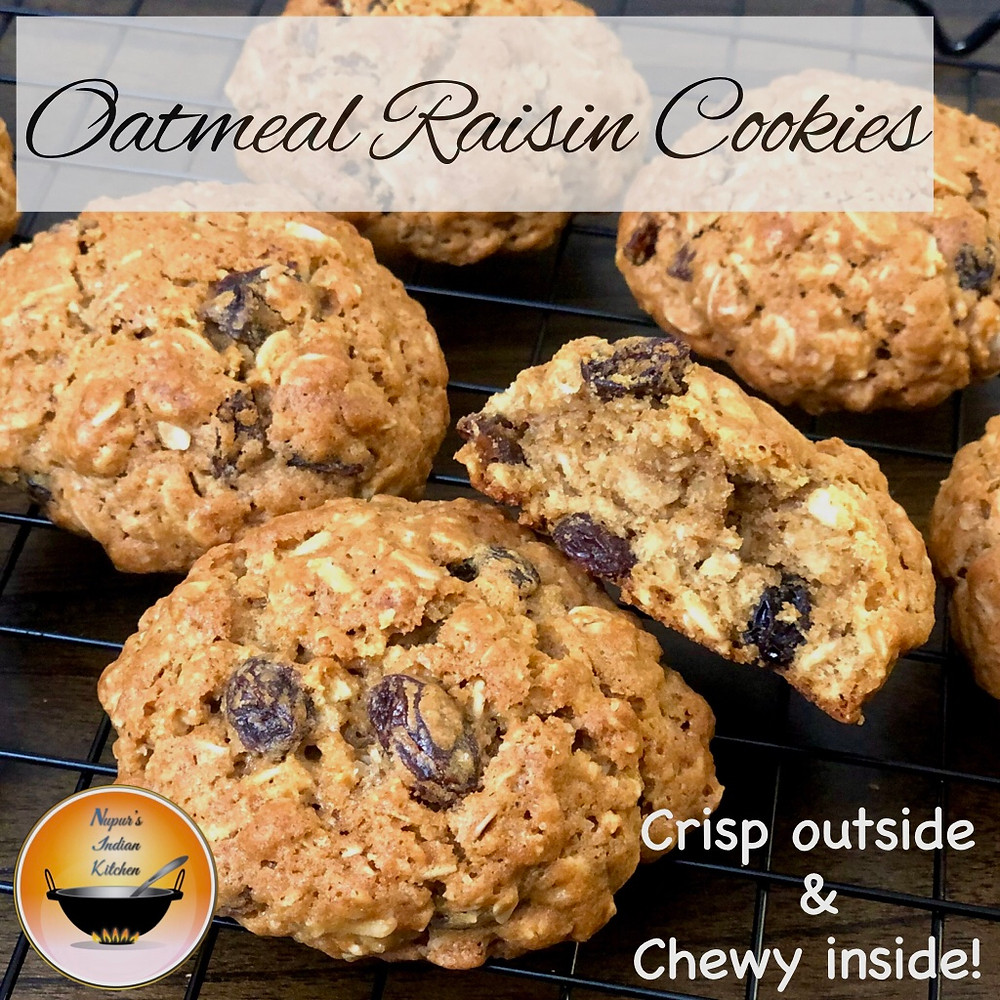 Perfect Oatmeal Raisin cookies-Crisp on the surface, soft and chewy inside!-Oatmeal Cookie Recipe