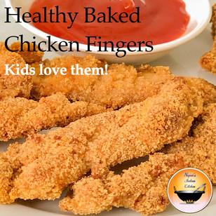 Secret to Crispy Healthy Baked Chicken Fingers/chicken tenders/chicken nuggets/Kids snack recipes